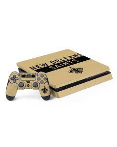 New Orleans Saints Gold Performance Series PS4 Slim Bundle Skin