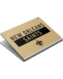 New Orleans Saints Gold Performance Series Surface Book Skin