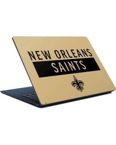 New Orleans Saints Gold Performance Series Surface Laptop Skin