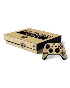 New Orleans Saints Gold Performance Series Xbox One X Bundle Skin