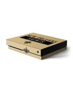 New Orleans Saints Gold Performance Series Xbox One X Console Skin