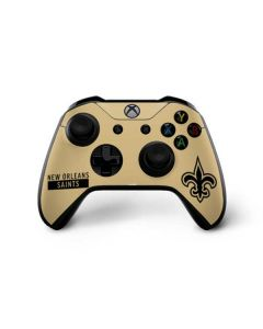 New Orleans Saints Gold Performance Series Xbox One X Controller Skin