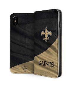 New Orleans Saints iPhone XS Folio Case
