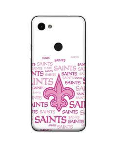 New Orleans Saints Pink Blast Google Pixel 3a Skin