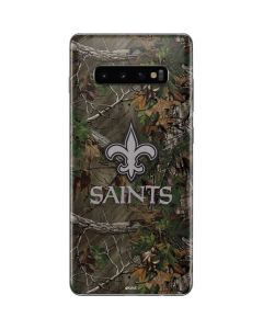 New Orleans Saints Realtree Xtra Green Camo Galaxy S10 Plus Skin