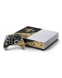 New Orleans Saints Xbox One S Console and Controller Bundle Skin