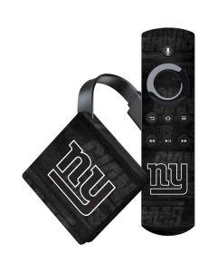 New York Giants Black & White Amazon Fire TV Skin