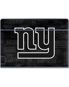 New York Giants Black & White Galaxy Book Keyboard Folio 12in Skin