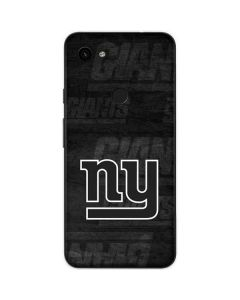 New York Giants Black & White Google Pixel 3a Skin