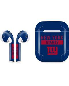 New York Giants Blue Performance Series Apple AirPods Skin