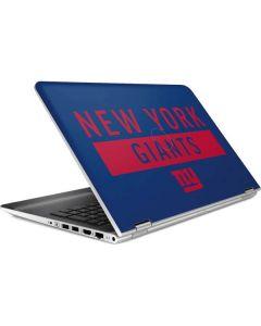 New York Giants Blue Performance Series HP Pavilion Skin