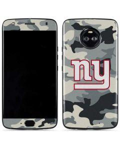 New York Giants Camo Moto X4 Skin