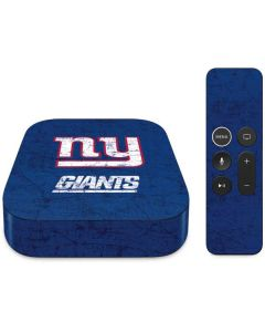 New York Giants Distressed Apple TV Skin