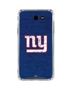 New York Giants Distressed Galaxy J7 (2017) Clear Case