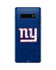 New York Giants Distressed Galaxy S10 Plus Skin