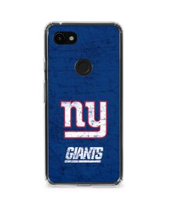 New York Giants Distressed Google Pixel 3a Clear Case
