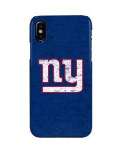 New York Giants Distressed iPhone XS Max Lite Case