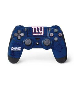 New York Giants Distressed PS4 Controller Skin
