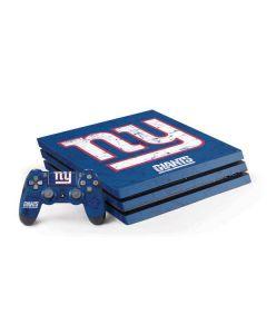 New York Giants Distressed PS4 Pro Bundle Skin