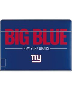New York Giants Team Motto Galaxy Book Keyboard Folio 12in Skin