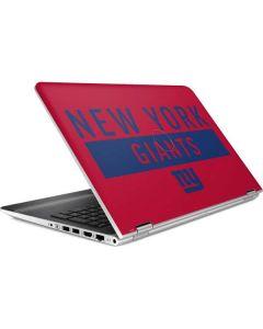 New York Giants Red Performance Series HP Pavilion Skin