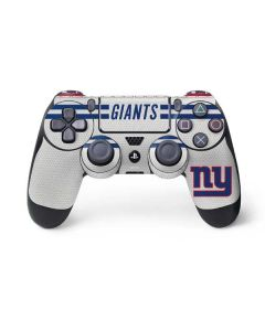 New York Giants White Striped PS4 Controller Skin