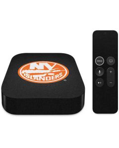 New York Islanders Black Background Apple TV Skin