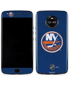 New York Islanders Distressed Moto X4 Skin