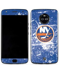 New York Islanders Frozen Moto X4 Skin