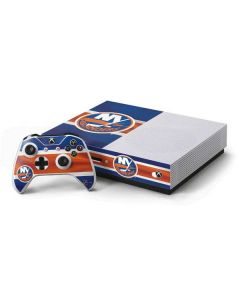 New York Islanders Jersey Xbox One S Console and Controller Bundle Skin