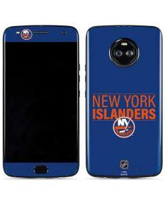 New York Islanders Lineup Moto X4 Skin