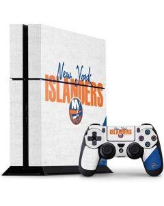 New York Islanders Script PS4 Console and Controller Bundle Skin