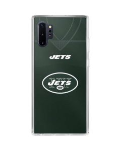 New York Jets Team Jersey Galaxy Note 10 Plus Clear Case
