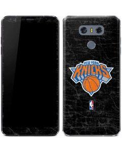 New York Knicks Black Secondary Logo LG G6 Skin