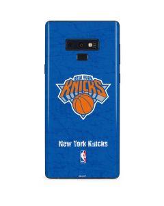 New York Knicks Blue Primary Logo Galaxy Note 9 Skin