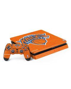 New York Knicks Orange Primary Logo PS4 Slim Bundle Skin