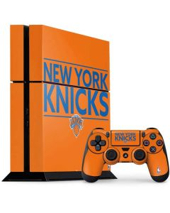 New York Knicks Standard - Orange PS4 Console and Controller Bundle Skin