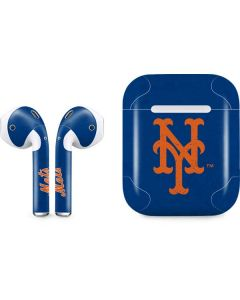 New York Mets - Solid Distressed Apple AirPods Skin