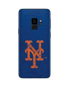 New York Mets - Solid Distressed Galaxy S9 Skin