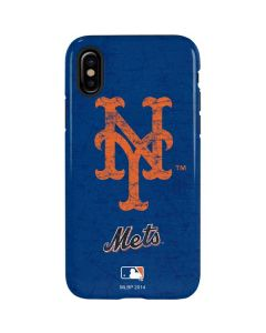 New York Mets - Solid Distressed iPhone XS Max Pro Case