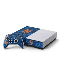 New York Mets Digi Camo Xbox One S Console and Controller Bundle Skin