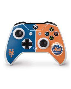 New York Mets Split Xbox One S Controller Skin