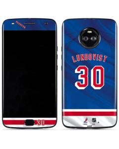 New York Rangers #30 Henrik Lundqvist Moto X4 Skin