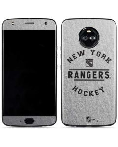 New York Rangers Black Text Moto X4 Skin