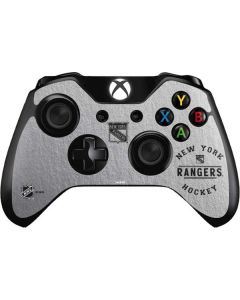 New York Rangers Black Text Xbox One Controller Skin