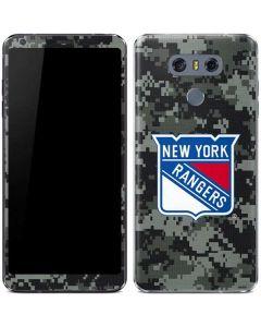 New York Rangers Camo LG G6 Skin