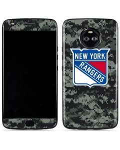 New York Rangers Camo Moto X4 Skin