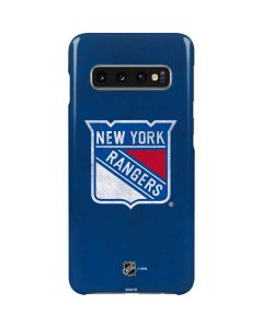 New York Rangers Distressed Galaxy S10 Lite Case