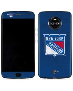 New York Rangers Distressed Moto X4 Skin