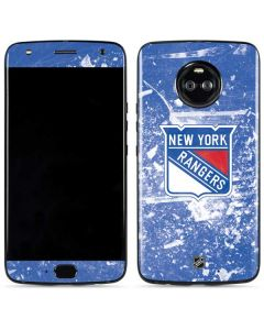 New York Rangers Frozen Moto X4 Skin